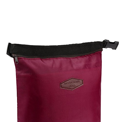 HighlifeS Lunch Bag Waterproof Thermal Fashion Cooler Insulated Lunch Box More Colors Portable Tote Storage Picnic Bags (Wine Red) by HighlifeS (Image #3)