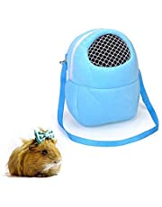 Small Animal Carrier Bags Pet Portable Travel Bags Breathable Outgoing Bag Handbag Backpack for Hamster/ Hedgehog/ Rabbit/ Sugar Glider/ Squirrel/ Guinea Pig