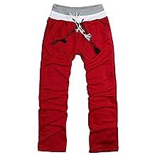 CFD Men's High Waist Fleece Drawstring Sweatpants Joggers Pants