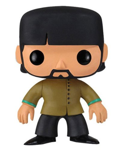 Funko PDF00004367 - Pop Rocks, Yellow Submarine, The Beatles George Harrison, Figura de 10 cm (FUNWWBH2695) - Figura Head Pop George Harrison Bea