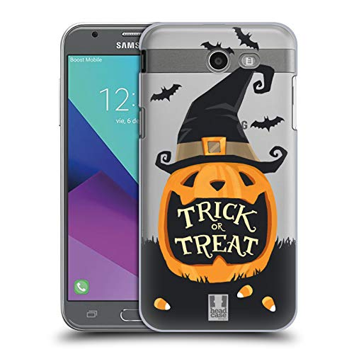 Head Case Designs Jack O' Lantern Halloween Characters Hard Back Case for Samsung Galaxy J3 Emerge ()