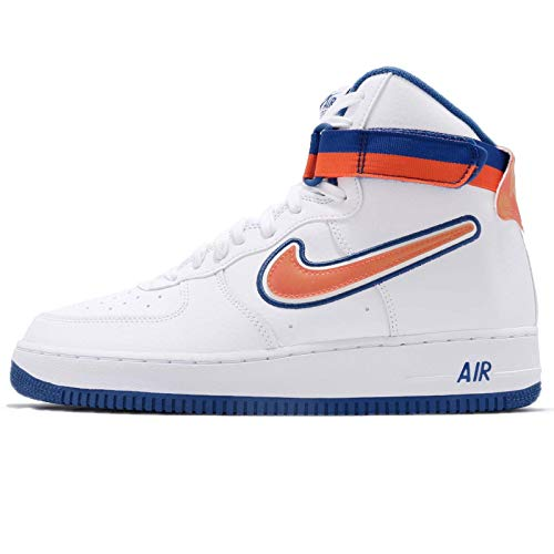 Nike - Air Force 1 High 07 LV8 Sport NBA New York Knicks - AV3938100 - Color: White-Blue-Orange - Size: 12.0