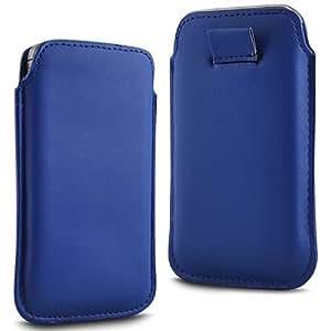 Online-Gadgets UK - HTC Desire 510 Prima Soft PU Funda de cuero Flip Case Tire Tab - Azul Oscuro