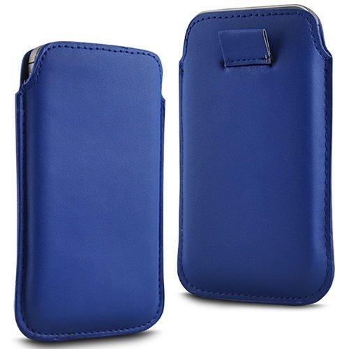 N4U Online - Apple Iphone 5C Prime PU souple Pull en cuir flip Tab Housse Etui - Bleu Foncé