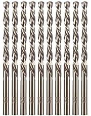 "amoolo 3/16"" Cobalt Drill Bit(10 Pcs), M35 HSS Metal Drill Bit Set for Hard Metal, Stainless Steel, Cast Iron"