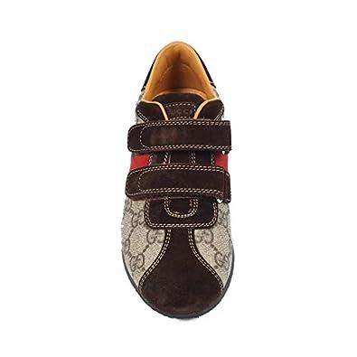 6f39cc523d Gucci Scarpe Ragazzo Unisex 271335 F2AD0 9769 - Colore - Beige, Taglia  Scarpa - 33: Amazon.it: Scarpe e borse