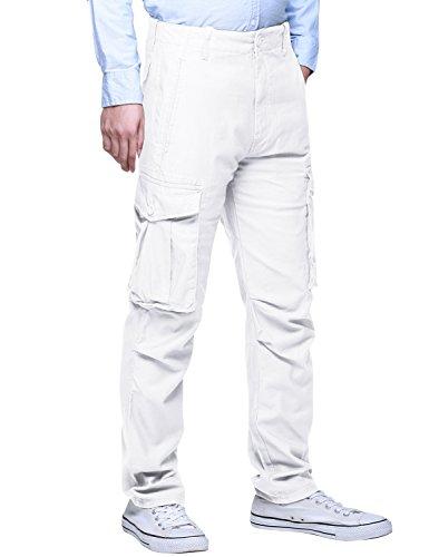 Match Men's Wild Cargo Pants(29,6540 White) (White Cargo Pants)