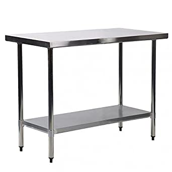 Kitchen Steel Table Amazon 24 x30 stainless steel kitchen work table commercial 24quot x30quot stainless steel kitchen work table commercial kitchen restaurant table workwithnaturefo