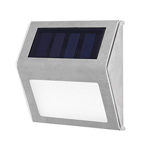 Solar Stair Lights, EpicGadget Waterproof Outdoor LED Step Lighting 3 LED Solar Powered Step Lights Stainless Steel Outdoor Lighting for Steps Paths Patio Stairs (12 Pack) by EpicGadget(TM)