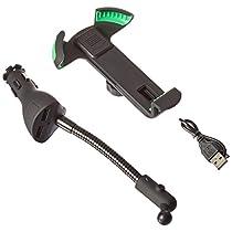 Handyhalterung Auto, EnergyPal HC84K Fahrzeug-Smarthphone-Halterung Mit Doppel-USB 2.1A-Ladegerät Mit Überlade- und Überspannungsschutz