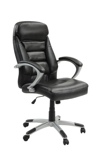 Innovex CO575L29 Excelsus Ergonomic High Back Executive Adjustable Swivel Office Task Chair with Thick Padded Bonded Leather arm Rests and Comfortable Cushioned seat.