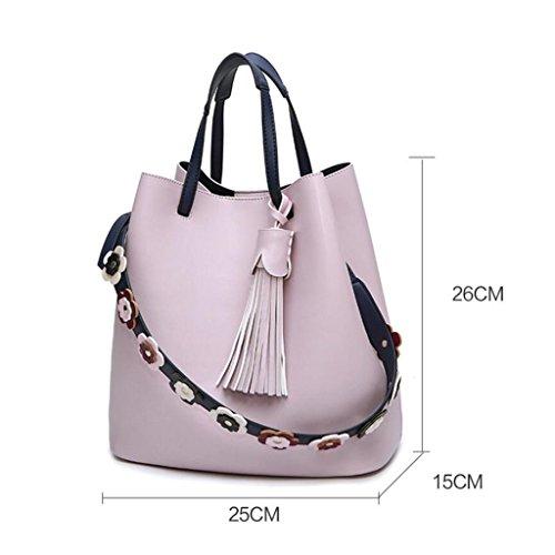 Top Bag Straps Handbags Shoulder Leather Women Handle Flower PPGE Personality Messenger Messenger ExfUqBwxPW