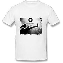 Best White T Shirt For Men Rock Pop Shakey Graves Tour 2016 Poster