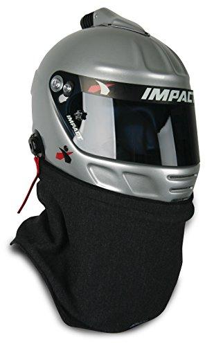 - Impact Racing Men's Helmet Skirt 2 Layer (SFI 3.3/5) (Black, Universal)