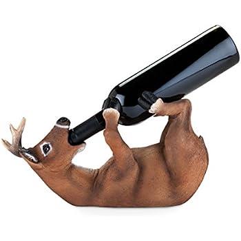 True 3977 Drunken Deer Wine Bottle Holder, One Size