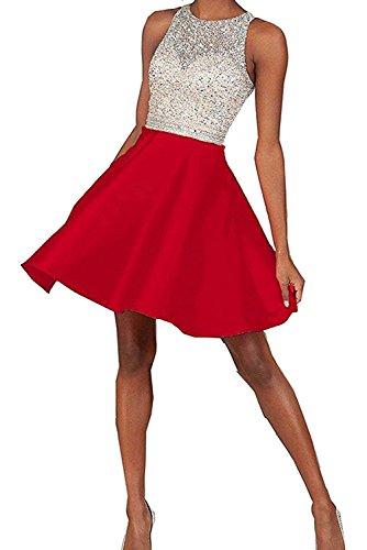 Mini Kleider Kurz Ballkleider La Marie Rot Abendkleider Festlich Braut Damen Jugendweihe Pailletten Cocktailkleider q4FaqH