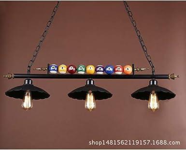 Lx.AZ.Kx E27 - Lámpara colgante moderna, minimalista, de billar ...