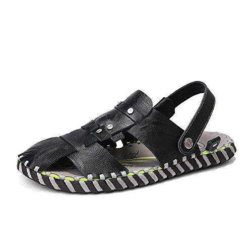 De Antideslizantes Deportes Wangcui Sandalias Zapatos Playa CM 24 Hombres 27 42 De tamaño para Aire EU 0 Uso Cuero Libre Y Color Zapatillas Doble Negro 0 Al De Sandalias Hombre Negro 77xZYqEP