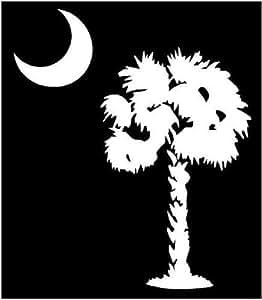 White 5 X 4 25 Quot Palm Tree Moon South Carolina Palmetto