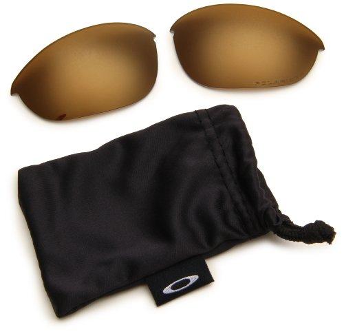 - Oakley Half Jacket XLJ Polarized Rimless Sunglasses,13-427-Multi Frame/Gold Iridium Lens,One Size