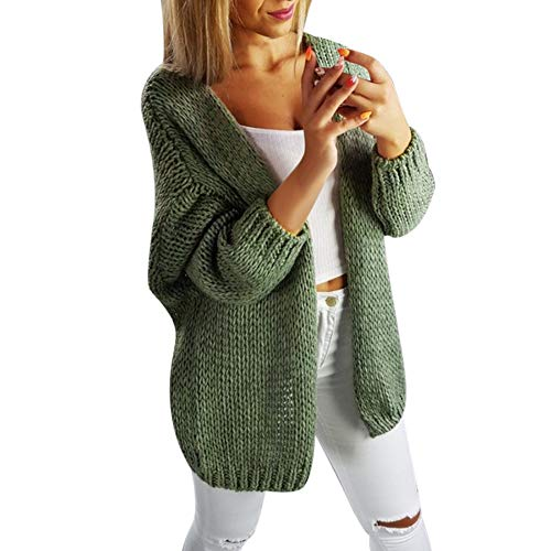 Orangeskycn Ladies Sweater Cardigan Casual Open Front Cover Up Knitted Coat Blouse