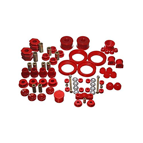 Energy Bushings Crx Suspension (Energy Suspension Hyper-Flex Bushing System (Red) - Civic - 1996-2000 - 16.18110R)