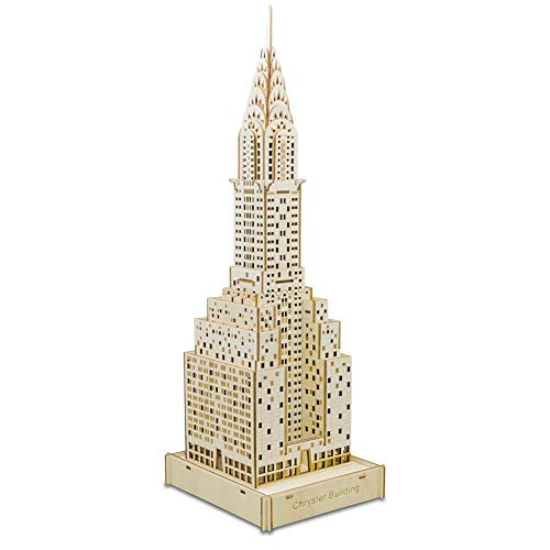 Chrysler Laser Manual - Wq zxc 3D Puzzle Chrysler Building Three-Dimensional Jigsaw Puzzle Laser Cutting Processing Children's Puzzle Building Model DIY Model Kit