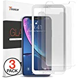 """Trianium (3 Packs) Screen Protector Designed for Apple iPhone XR (6.1"""" 2018) Premium HD Clarity 0.25mm Tempered Glass Screen Protector with Easy Installation Alignment Case Frame [3D Touch] (3-Pack)"""