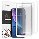 Trianium (3 Packs) Screen Protector Designed for Apple iPhone XR (6.1' 2018) Premium HD Clarity 0.25mm Tempered Glass Screen Protector with Easy Installation Alignment Case Frame [3D Touch] (3-Pack)