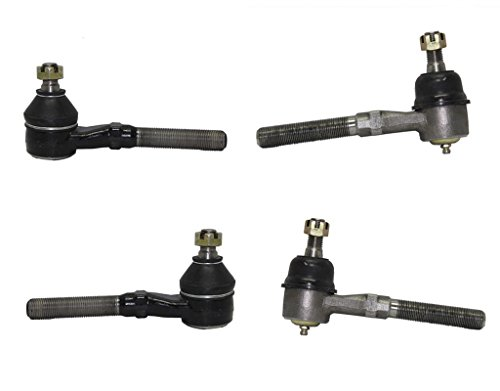Complete 4-Piece 4x4 Only Inner and Outer Tie Rod Ends fits 4x4 Only - 97-02 Ford Expedition - [97-04 Ford F-150] - 97-99 Ford F-250 - [98-02 Lincoln Navigator] (4 Tie Ends)