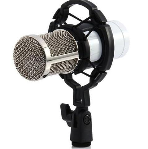 BM800 Condenser Pro Audio Microphone Black Sound Studio Dynamic Mic +Shock White (Emerson Breakout)