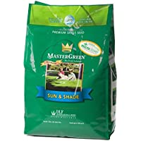 Organic Seeds: MASTERGREEN 3 lb. Sun and Shade North Grass Seed Micro Clover Drought Tolerant by Farmerly