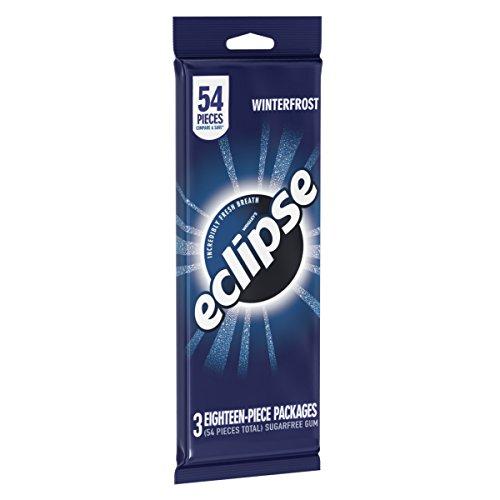 Eclipse Sugar Free Gum, Winterfrost, 3 18-Piece Packages ()