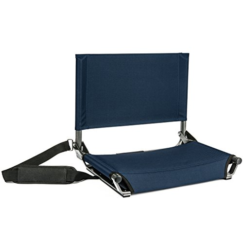 Cascade Mountain Tech Lightweight Folding Portable Wide Stadium Seats with Shoulder Strap - ()