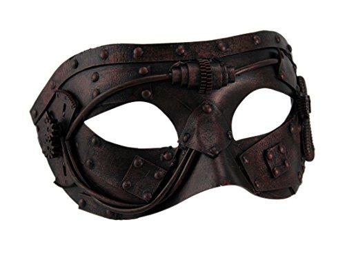 Metallic Steampunk Gladiator Eye Mask ()