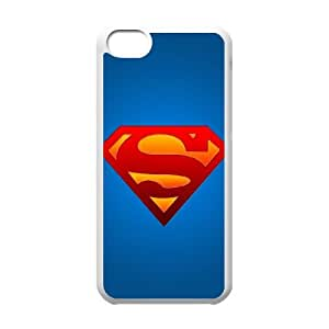 Superman 002 iPhone 5c Cell Phone Case White TPU Phone Case RV_594981