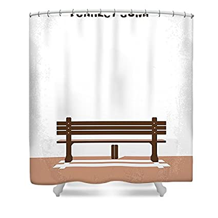 Pixels Artistic Shower Curtain Featuring No193 My Forrest Gump Minimal Movie Poster By Chungkong Art Amazonca Home Kitchen