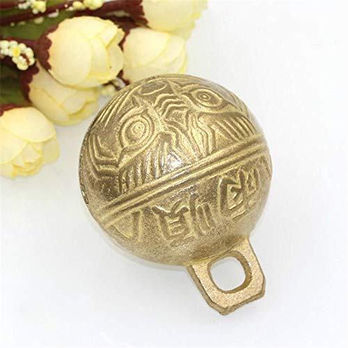 YPINGLI 6.5cm Vintage Brass Cow Bell Horse Sheep Camel Dog Pet Grazing Bell DIY Craft Room Decorations Tool Accessories -