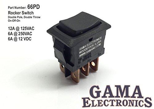 Mini 3 Position Double Pole On-Off-On Rocker Switch DPDT