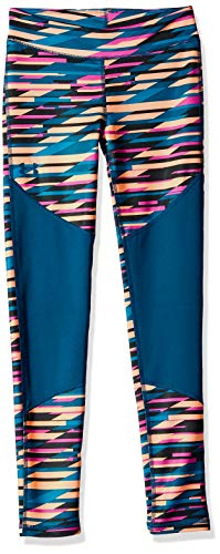 Coldgear Legging Girls (Under Armour Girls' Coldgear Novelty Leggings, Fluo Fuchsia (565)/Techno Teal, Youth Small)
