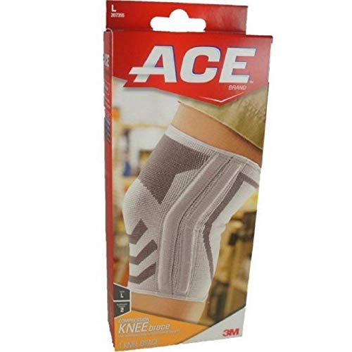 - ACE Compression Knee Brace With Side Stabilizers Large 1 Each (Pack of 2)