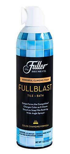 Fuller Brush FullBlast Tile & Bath Foam Bathroom Cleaner Spray - Powerful Multi Purpose Cleaning Solution for Shower Bathtubs Toilets & Kitchen Sinks (Best Shower Cleaning Solution)