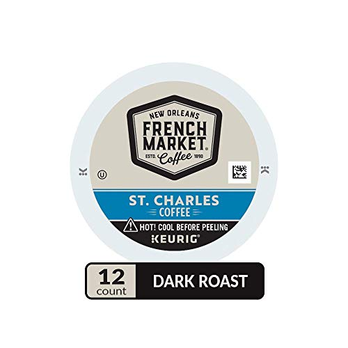 Dixie Cup Coupons - French Market Coffee, St. Charles Blend, Single Serve Coffee K-Cup Pods, Dark Roast, 12 Count