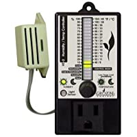 Grozone Controls HT2 Climate Controller (Temp & RH) Single Output Bargraph Display