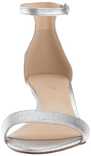 outlet online Nine West Women's Leisa Synthetic Heeled Sandal Gray (Silver) for sale official site find great for sale sale best seller clearance affordable iom5mEr