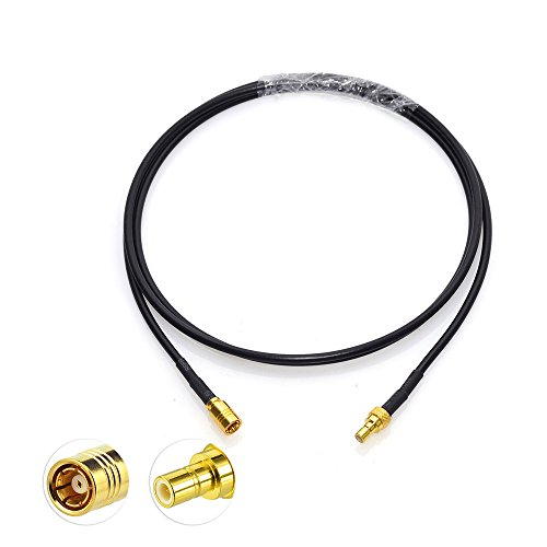 Eightwood Satellite Radio Antenna Adapter SMB Male to SMB Female Extension Cable 3 feet Compatible with Sirius XM Car Vehicle Radio Stereo Receiver Tuner (Antenna Wire Xm)