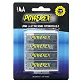 Powerex MHRAA4 Powerex AA 2700mAh 4-Pack Rechargeable Batteries