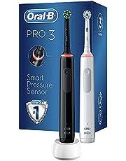 Oral-B Pro3-3900 Şarj Edilebilir Diş Fırçası 2'li Set Siyah&Beyaz