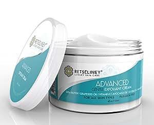 Retseliney Exfoliant Cream for Face, Natural Microdermabrasion with Vitamin E, Shea Butter & Jojoba Oil, Face Scrub, Facial Exfoliator, Pore Minimizer, Best Anti Aging Exfoliating Moisturizer