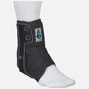 Med Spec ASO Ankle Stabilizer Orthosis Flex Hinge, Black, XX-Large by MedSpec